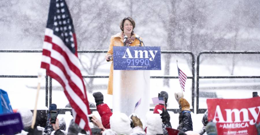 El lanzamiento de la campaña de Amy Klobuchar en Minnesota. Foto: Stephen Maturen