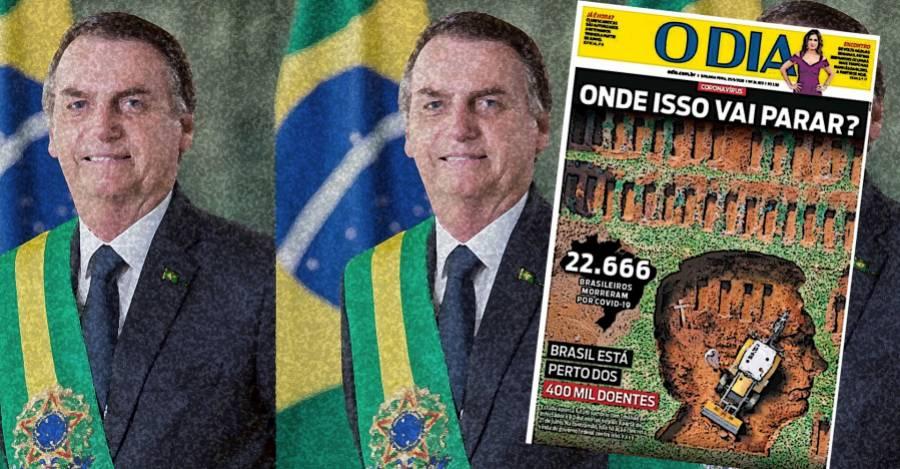 """Portada del diario """"O dia"""" del 25 de Mayo"""