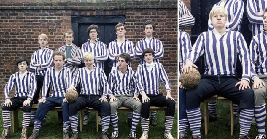 Boris Johnson en sus tiempos en Eton College