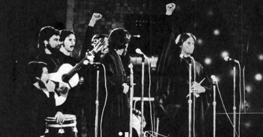 Quilapayún en el Festival de Viña de 1973