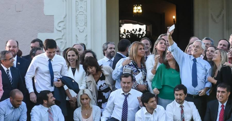 Reunión en 2018 de bancadas, ministros y subsecretarios con el presidente Sebastián Piñera. Foto: Segegob