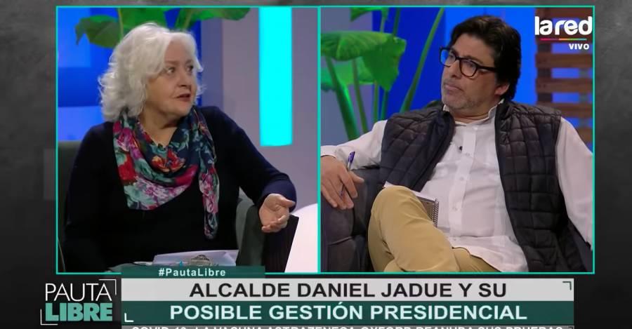 Mónica González y Daniel Jadue en Pauta Libre.