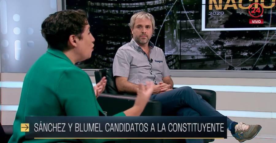 """Beatriz Sánches y Gonzalo Blumel en """"Estado Nacional"""" TVN"""