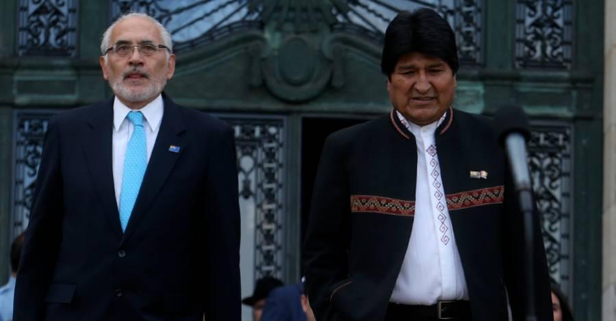 Carlos Mesa y Evo Morales. Fotografía de archivo Agencia Uno
