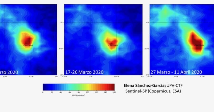 Datos del satélite muestran la presencia de emisiones de dióxido de nitrógeno