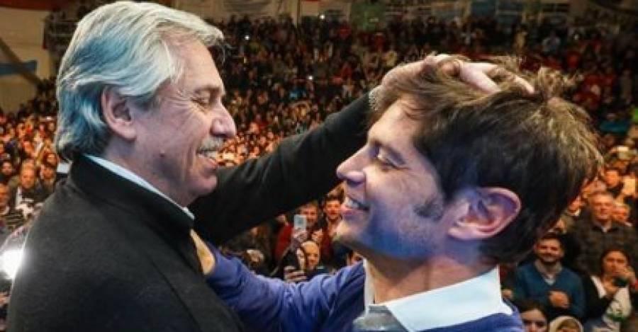 Alberto Fernández (candidato presidencial peronista) y Alex Kicillof (gobernador electo de Provincia de Buenos Aires), los grandes ganadores de la jornada