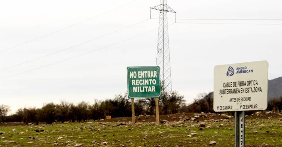 Predio del Ejército en la Hacienda Peldehue. Foto: Interferencia