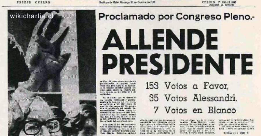 El Mercurio del 25 de octubre de 1970