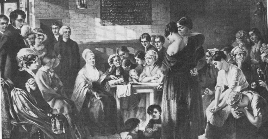 Elizabeth Fry y las cuáqueras organizaron la Orden de las Hermanas Protestantes de la Caridad.