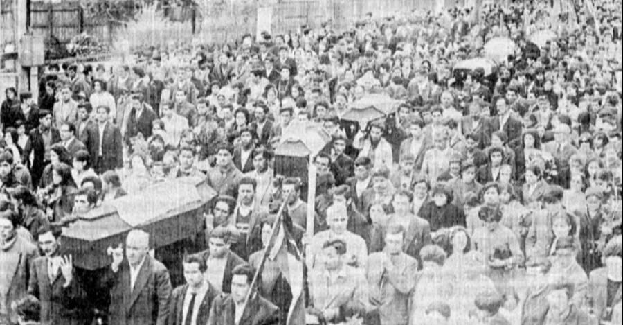 Funeral de las víctimas de la Matanza de Pampa Irigoin