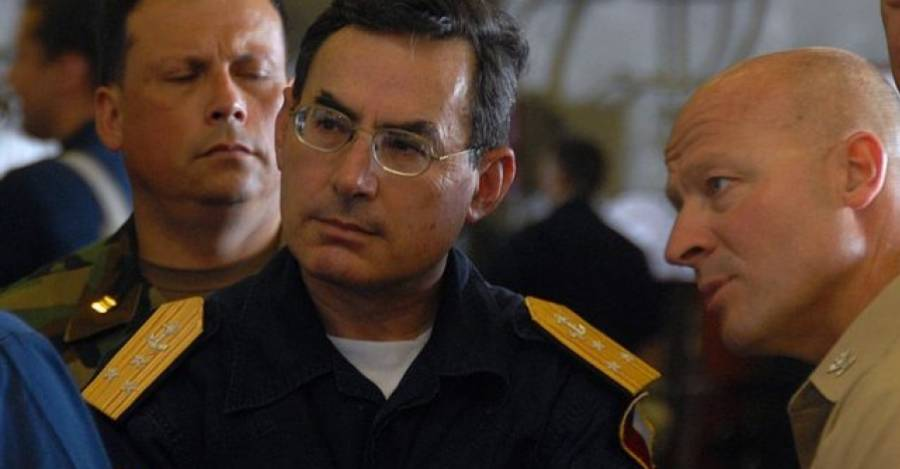 El vicealmirante Gustavo Jordán, antes de ser director de la agencia civil de inteligencia
