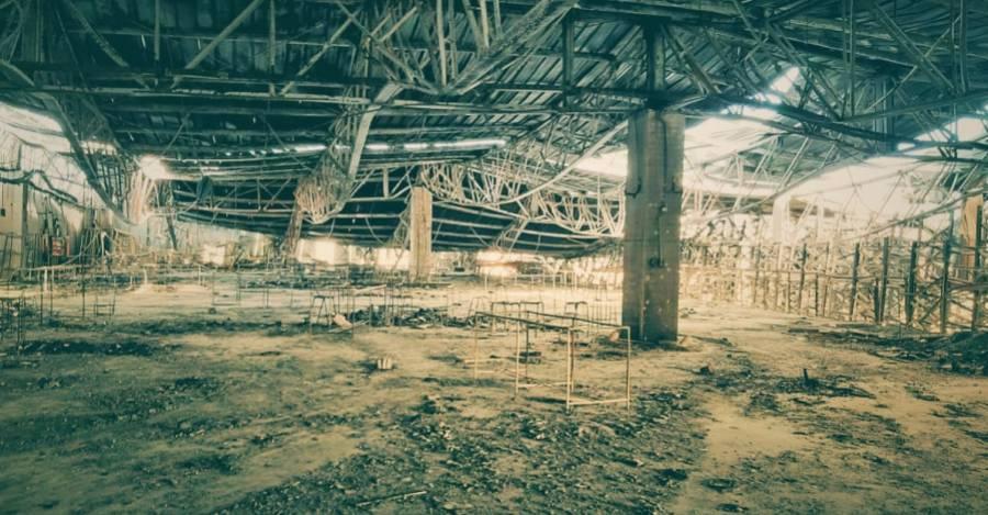 Segundo piso de la bodega de Kayser, dónde fueron encontrados cinco cuerpos