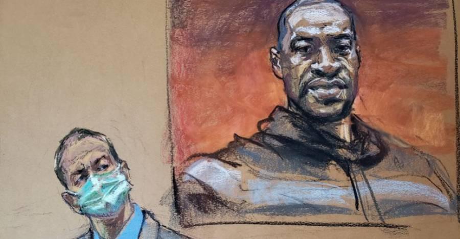 Ilustración del juicio en Minneapolis