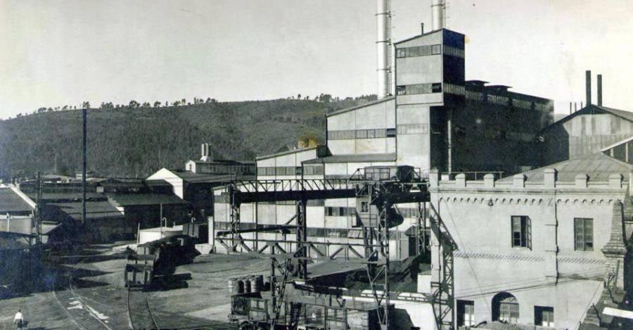 La azucarera CRAV en 1942.