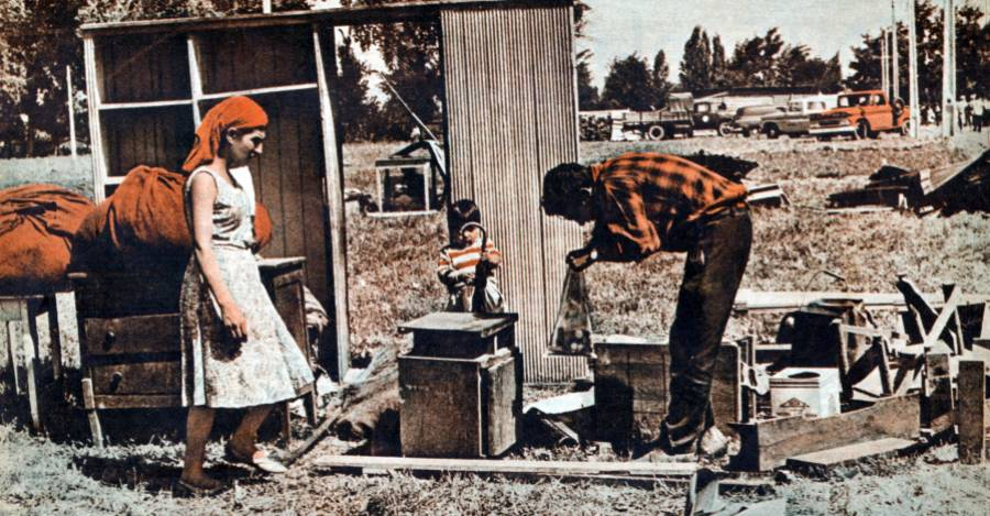 Las tomas de terrenos aumentaron a fines de los años 50.