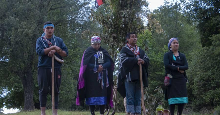 Comunidad Liempi Colipi en ceremonia. Fotografía Catalina Mundaca