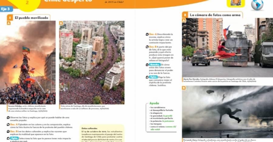 Páginas del libro de español para alumnos franceses.