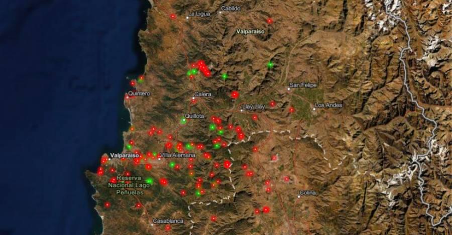 El mapa permite identificar conflictos ambientales e iniciativas ecológicas