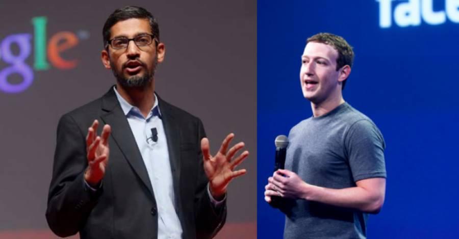 Sundar Pichai y Mark Zuckerberg, CEOs de Google y Facebook