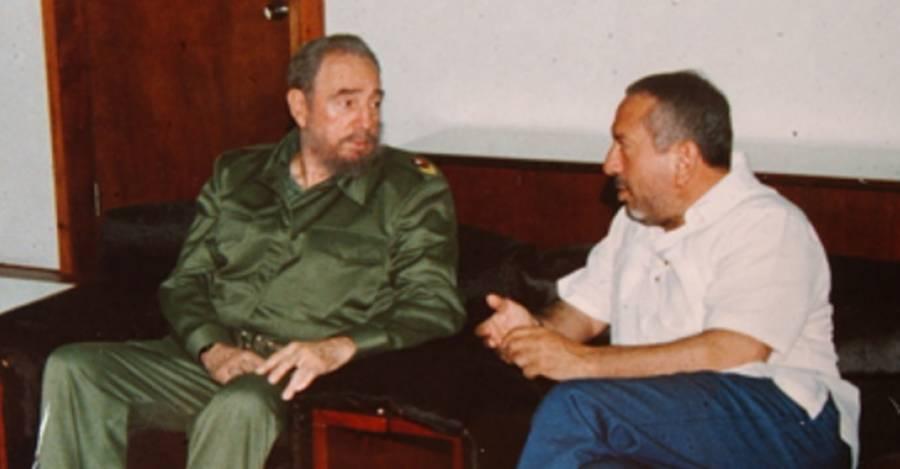 Max Marambio y Fidel Castro en Cuba
