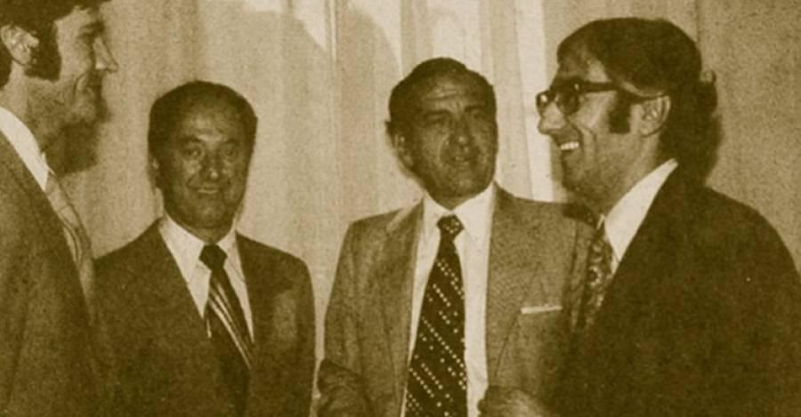 Sergio de la Cuadra, Sergio de Castro, Pablo Baraona y Álvaro Bardón.