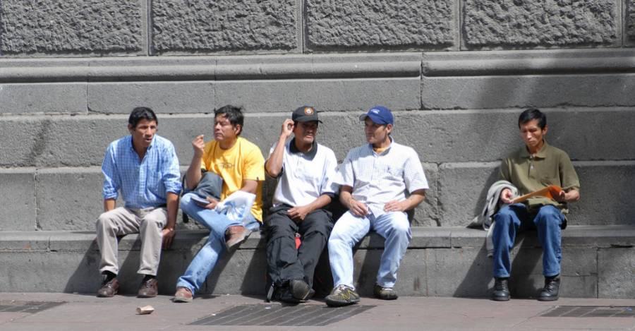 Migración peruana en Santiago, Chile. Foto: Wikipedia