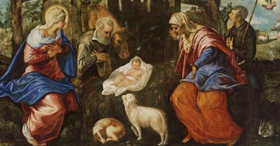 La Natividad (1555-1559), Jacopo Tintoretto. Óleo sobre lienzo, 155,6 x 358,1 cm (61 1/4 x 141 in.). Museum of Fine Arts, Boston, Estados Unidos.