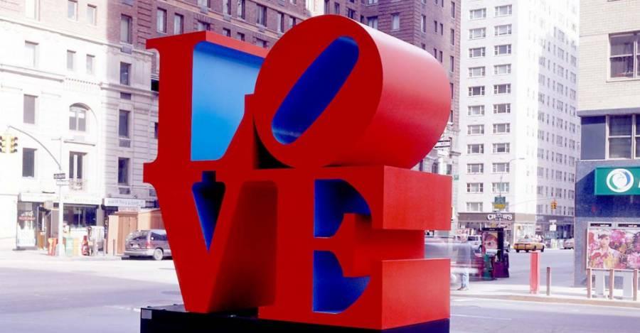 La escultura LOVE de Robert Indiana, de 1970.