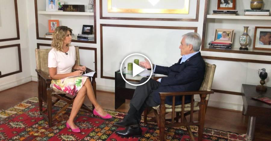 Sebastián Piñera en la entrevista del domingo 29 de marzo en CHV