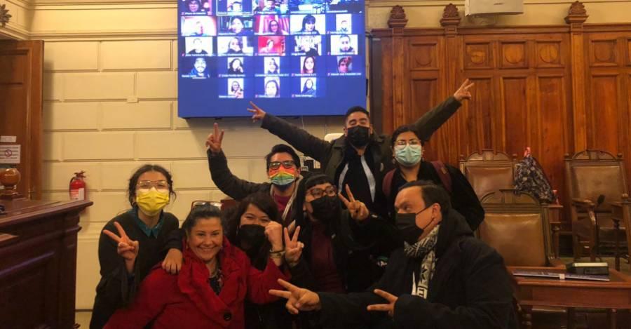 Integrantes de la Comisión de Participación Popular al finalizar la jornada. Foto de la convencional Mariela Serey