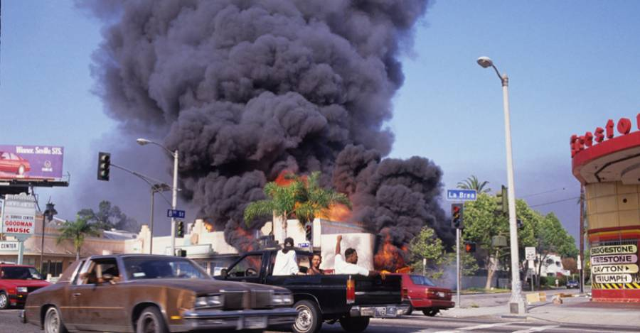 Los Angeles, protestas de 1992. Foto: Getty