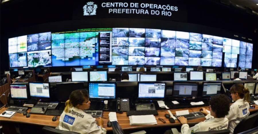 Sala de smart city de Río de Janeiro