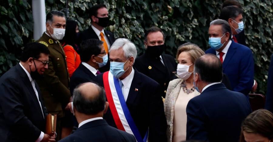 Sebastián Piñera en el Te Deum celebrado el año pasado.