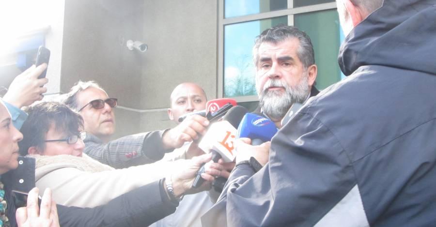 El subsecretario del Interior Rodrigo Ubilla hizo un punto de prensa en Pucón, tras postergarse la audiencia