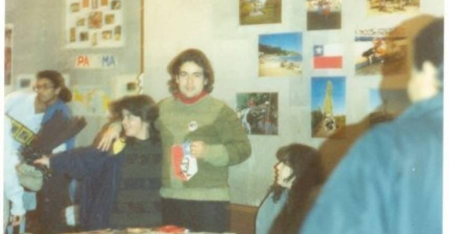 Johann Bórquez en Kiev, mostrando Chile