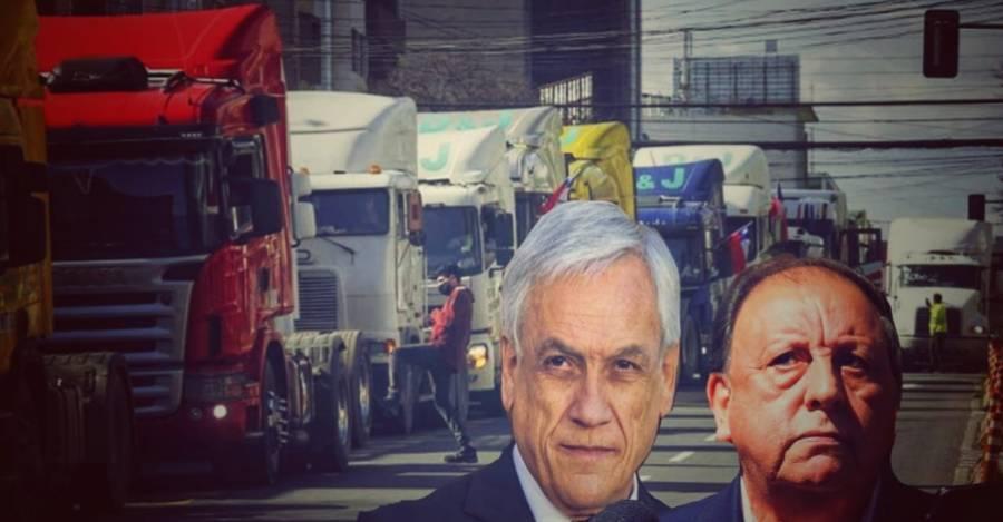 Sergio Pérez, presidente del CNTC, y el presidente de la República, Sebastián Piñera