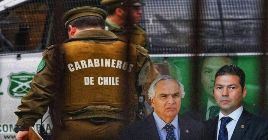 El ex ministro Andrés Chadwick y el fiscal Eugenio Campos