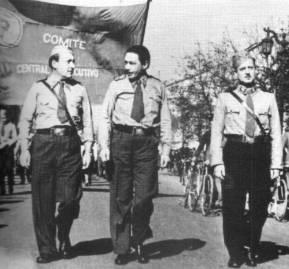 1938, Salvador Allende en las brigadas socialistas.