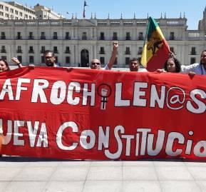 Intervención en La Moneda. Fotografía Daniel Domingo