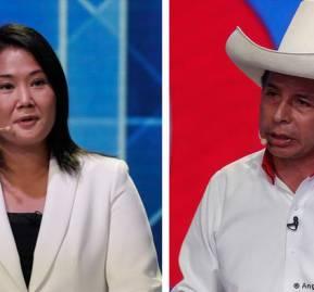 Keiko Fujimori y Pedro Castillo, candidatos presidenciales de Perú.