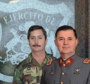 General Daniel Aberl y Ricardo Martínez Menanteau, comandante en jefe del Ejército