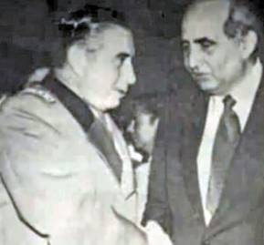Augusto Pinochet y Agustín Edwards