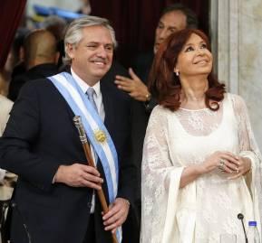 Alberto Fernández y Cristina Fernández de Kirchner, tras asumir como presidente y vicepresidenta de la Nación Argentina. Nicolás Aboaf.