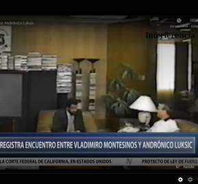 Imagen de la transmisión de la noticia de AméricaTV