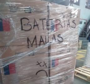 Baterías malas en Chilenter