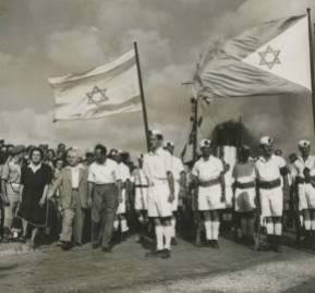 David Ben Gurión encabeza la celebración por la creación del Estado de Israel