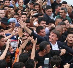 Bolsonaro en la ciudad amazónica de Manaus, en tiempos de campaña