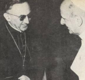 Cardenal Jean Villot con Paulo VI