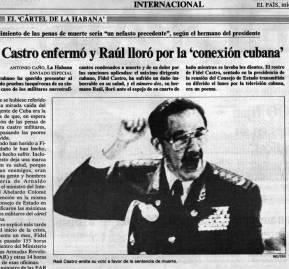 El diario El País de España, 12 de julio de 1989