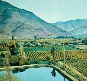 Valle del Choapa en el Norte Chico, en 1970. Foto de Hernán Castillo.